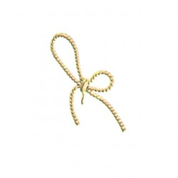 Brass bow pendant bra-p118