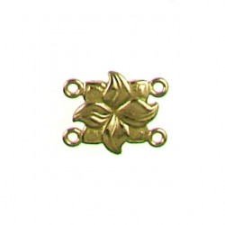Brass square link 5573