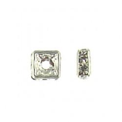 sterling silver Crystal squaredale roundel ss-af101