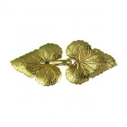 Brass Leaf Clasp 7243 br