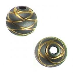Silver ball Rose swirl line design 5001301 ru