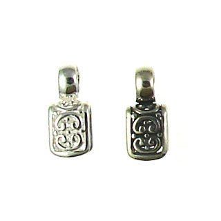 Sterling silver Carved Bail 95-0133