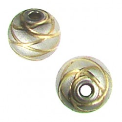 Sterling silver ball Rose-swirl-line-design-5001301-rh