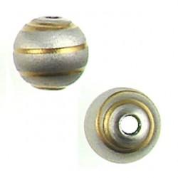 Sterling silver ball Spiral Lines Design 5001303 rh