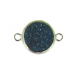 sterling silver  blue coin ss-dr101
