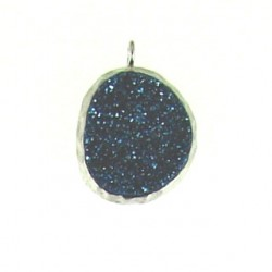 sterling silver blue nugget ss-dp111