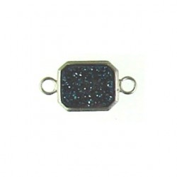 sterling silver  blue rectangle ss-dr128