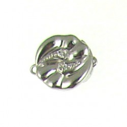 sterling silver  cz coin clasp bscz-1701
