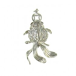 sterling silver  fish 90086cp s