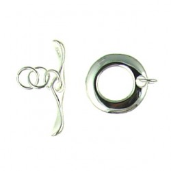 sterling silver flat ring toggle 91-0479