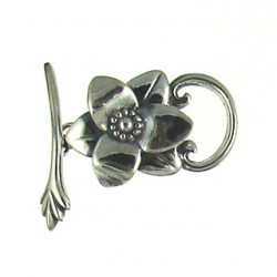 sterling silver flower toggle toggle 5