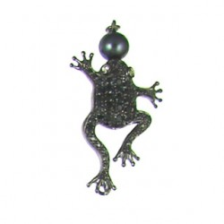 sterling silver  frog 90163cp b