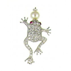 sterling silver  frog 90163cp s