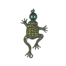 sterling silver  frog clasp 90163cp y