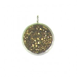 sterling silver gold coin ss-dp102