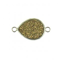 sterling silver gold drop ss-dr108
