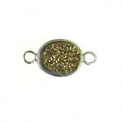 sterling silver  gold oval ss-dr113