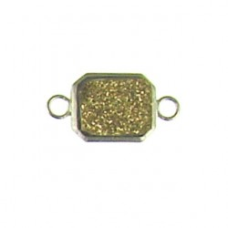sterling silver  gold recatngle ss-dr129