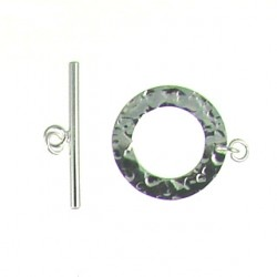 sterling silver hammered toggle 105-0055