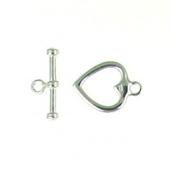 sterling silver heart toggle 91-0547