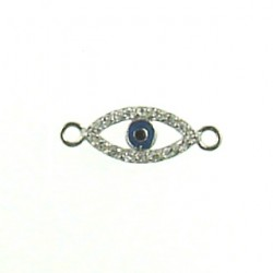sterling silver lucky eye 7x14mm 6c-007 ss