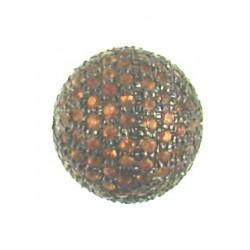 orange sapphire pave ss-p104