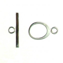 sterling silver oval toggle ss-t101