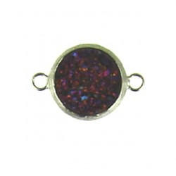 sterling silver  pink rainbow coin ss-dr103