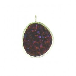 sterling silver pink rainbow nugget ss-dp113