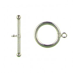 sterling silver plain toggle 91-0216