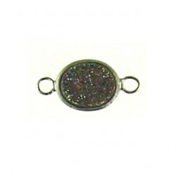 sterling silver  rainbow oval ss-dr115