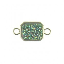 sterling silver  rainbow rectangle ss-dr130