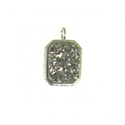 sterling silver silver rectangle ss-dp121