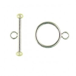 sterling silver toggle with pearl 91-0533