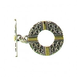 sterling silver two tone toggle 920179