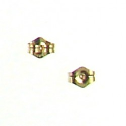 gold filled earring backing gf310