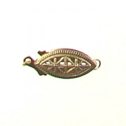 gold filled filgree fish clasp gf-fc102