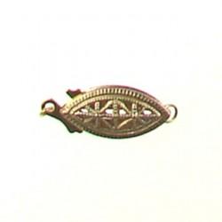 gold filled filgree fish clasp gf-fc102
