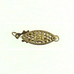 gold filled filgree fish clasp gf-fc103