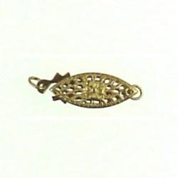 gold filled filgree fish clasp gf-fc103