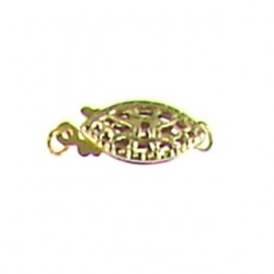 gold filled filigree clasp fish clasp gf-fc101
