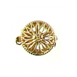 gold filled filigree coin clasp gf-ac102