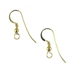 gold filled fishhook with 3mm ball gf318