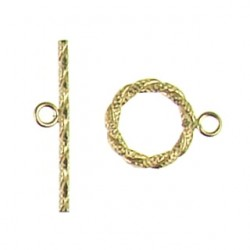 gold filled hammered toggle 940022