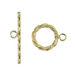 gold filled hammered toggle 940022