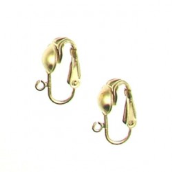 gold filled pair of clip on gf-e108