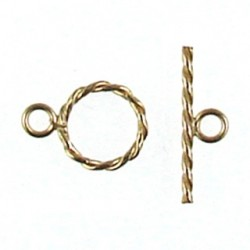 gold filled twisted toggle 940014