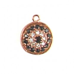 rose gold color vermeil coin charm 95-2248 rg