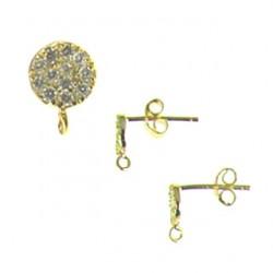 vermeil coin-earring-52-0796-v