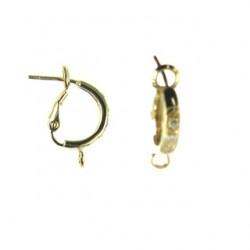 vermeil earring w cz 92-0042 v